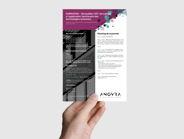 Flyer pour l'entreprise Anovra pour des formations