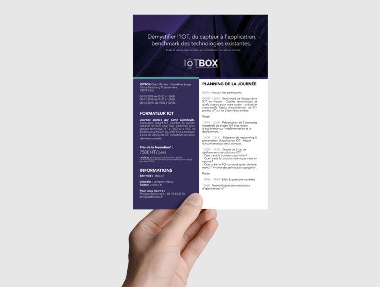 Flyer pour les formations chez IOTBOX