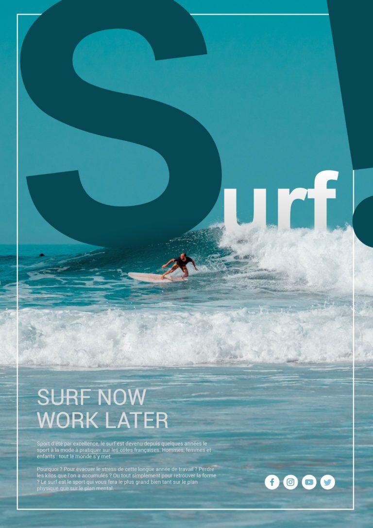 Affiche sur le Surf